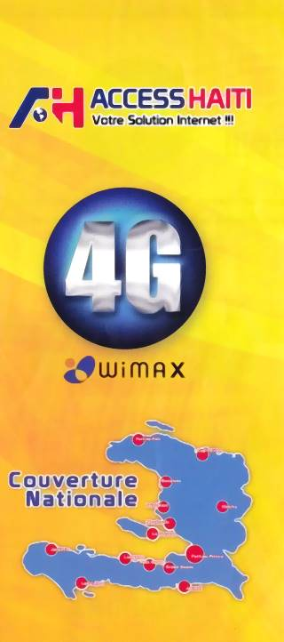4G Plan only available at Access Haiti