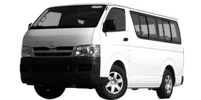 Toyota Hiace Bus available for rental at Avis Haiti