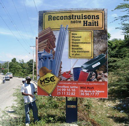 MSC Trading, MSC Plus, Reconstuisons notre Haiti Billboard Sign by DigiLab Haiti