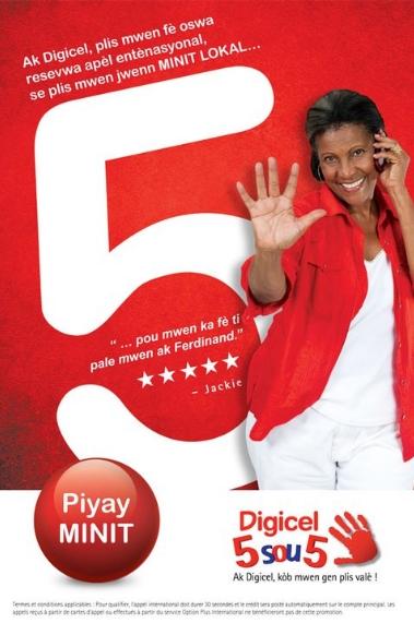 Piyay Minit, Digicel 5 sou 5