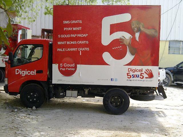 Digicel Haiti Promotional vehicle