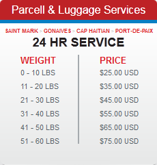 haiti aviation parcell and luggage services
