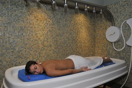 woman in spa room