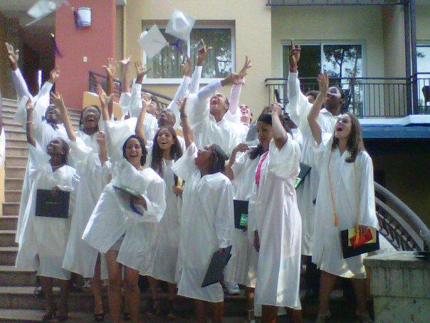 students graduation at the karibe hotel