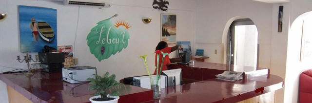 Le Gout-T Hotel receptionist area