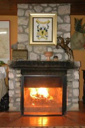 fireplace at ranch le montcel Haiti
