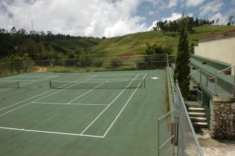 tennis pool at ranch le montcel haiti