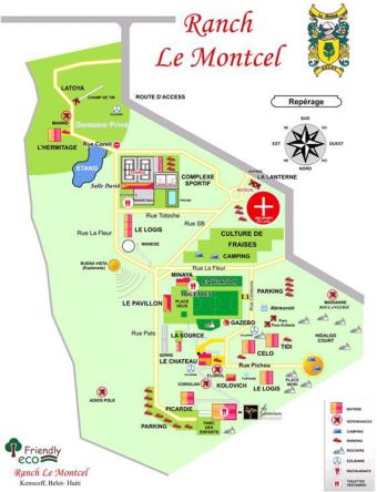 map of the ranch le montcel compound