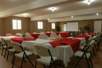 conference room at ranch le montcel, kenscoff haiti