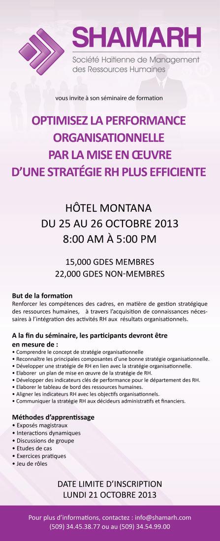SHAMARH - Société Haïtienne de Management des Ressources Humaines