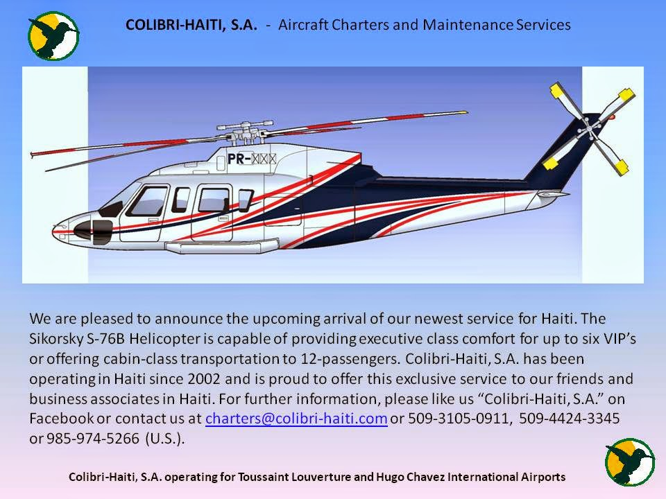 Colibri Helicopter Haiti